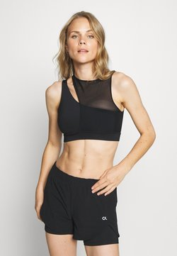 Calvin Klein Performance - MEDIUM SUPPORT BRA - Sujetador deportivo - black