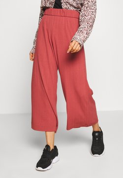 Monki - CILLA TROUSERS - Kangashousut - rust