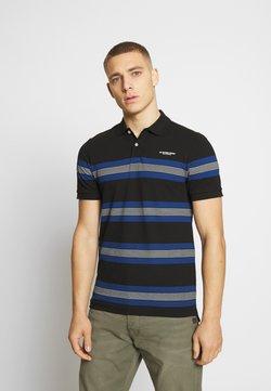 G-Star - STAINLO STRIPE - Poloshirt - black/imperial blue/milk