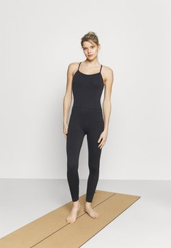 Cotton On Body - LIFESTYLE SEAMLESS YOGA ONESIE - Turnanzug - black