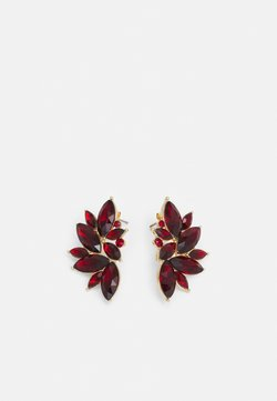 Pieces - PCSARAFIA EARRINGS - Oorbellen - gold-coloured/red