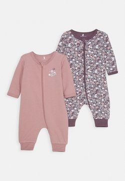 Name it - NBFNIGHTSUIT ZIP 2 PACK - Pyjama - black plum
