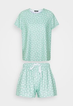 Loungeable - SPOT T-SHIRT WITH SHORTS - Pyjama - green