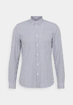 TOM TAILOR DENIM - HIDDEN BUTTONDOWN COLLAR SHIRT - Camisa - navy/ white