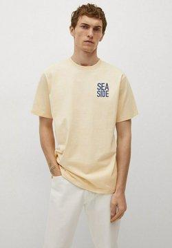 Mango - T-shirt con stampa - jaune pastel
