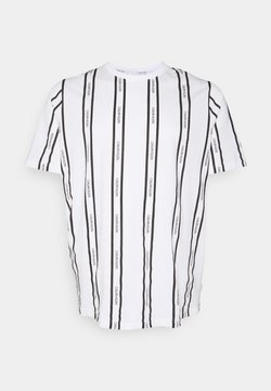Calvin Klein - VERTICAL LOGO STRIPE - T-Shirt print - bright white