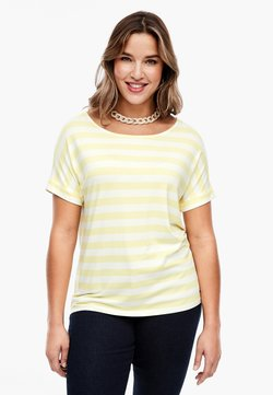 Triangle - MIT STREIFENMUSTER - T-Shirt print - yellow