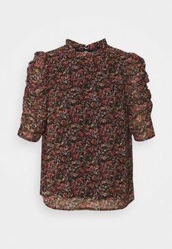 Vero Moda - VMPRINTY ROUCHING - Bluse - navy blazer