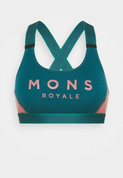 Mons Royale - STELLA X BACK BRA - Sport-BH mit leichter Stützkraft - deep teal/pink clay