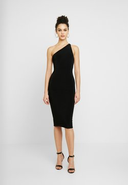 Club L London - ONE SHOULDER RUCHED BUM MIDI DRESS - Cocktail dress / Party dress - black