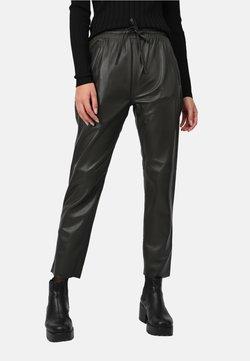 Oakwood - GIFT - Pantalon en cuir - dark khaki