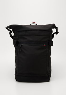 Tommy Hilfiger - URBAN ROLL BACKPACK - Reppu - black