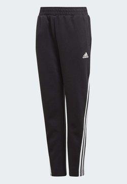 adidas Performance - 3-STRIPES DOUBLEKNIT TAPERED LEG TRACKSUIT BOTTOMS - Spodnie treningowe - black