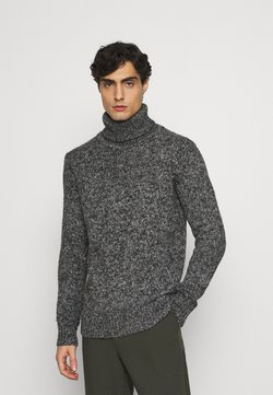 TOM TAILOR - TURTLE NECK SWEATER - Strickpullover - anthra grey/heavy melange