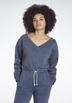 Reebok - STUDIO RESTORATIVE SWEATSHIRT - Sweater - blue