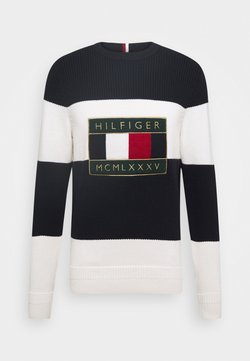 Tommy Hilfiger - ICONIC GRAPHIC - Strickpullover - white