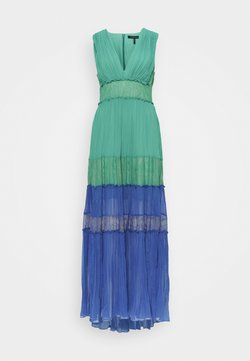 BCBGMAXAZRIA - COLOR BLOCK DRESS - Ballkleid - larkspur blue combo