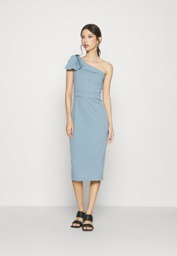 WAL G. - SARIYAH SHOULDER DETAIL MIDI DRESS - Vestido de cóctel - duck egg blue
