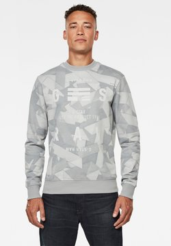 G-Star - TAPE AOP - Sweater - cool grey tape camo