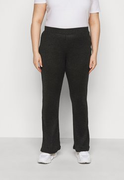 Pieces Curve - PCDIVI FLARED PANTS - Pantalon classique - black