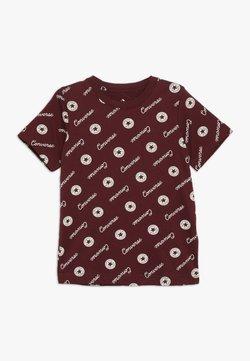 Converse - MICRO SIGNATURE CHUCK PRINTED TEE - T-shirt z nadrukiem - dark burgundy