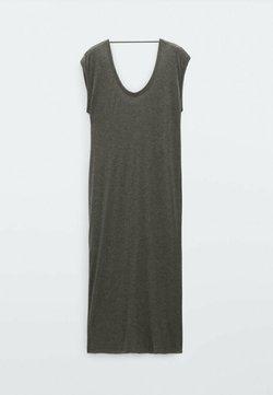 Massimo Dutti - FLIESSENDES - Jerseyklänning - grey