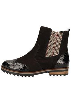 Remonte - Ankle Boot - black/schwarz/sand-karo /