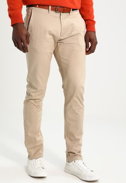 Selected Homme - SHHYARD SLIM FIT - Trousers - white pepper