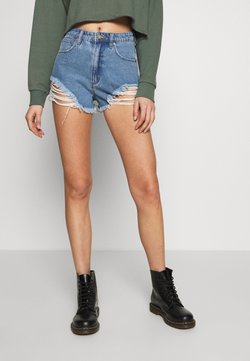 Abrand Jeans - A HIGH RELAXED SHORT - Jeans Shorts - salty blue