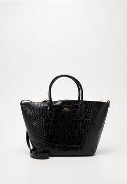 Polo Ralph Lauren - EMBOSSED OPEN TOTE - Torba na zakupy - black