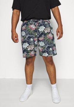 Jack´s Sportswear - FLORAL CHAMBRAY  - Shorts - dunkelblau