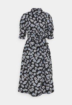 Marc O'Polo - DRESS STYLE BELTED WAIST PLEATS DETAILS - Blusenkleid - black
