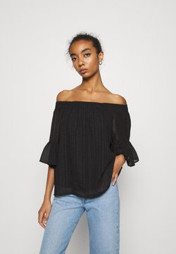 ONLY - ONLOLIVIA OFF SHOULDER - Bluse - black