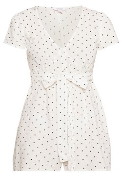 Miss Selfridge Petite - POCA DOT PLAYSUIT - Combinaison - ivory
