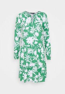 Marks & Spencer London - TIE NECK SWING - Freizeitkleid - green