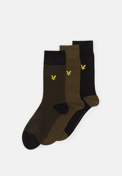 Lyle & Scott - SCOTTY 3 PACK - Calze - dark olive/black