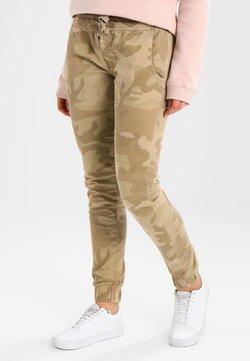 Urban Classics - LADIES CAMO PANTS - Trousers - sandcamo