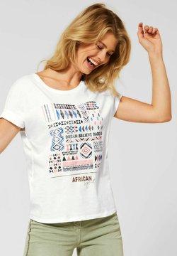 Cecil - MIT ETHNO-PRINT - T-Shirt print - weiß
