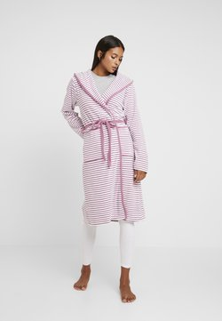 TOM TAILOR - STRIPE BATHROBE - Dressing gown - mauve