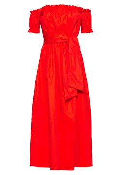 Glamorous - BARDOT DRESS WITH TIE DETAIL - Maxi dress - orange