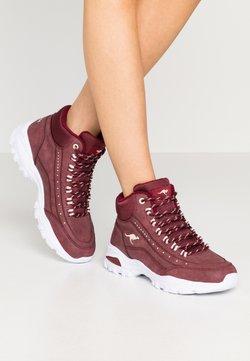 KangaROOS - KW-SNUG - Sneakers hoog - dark purple/beige