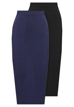 Even&Odd Tall - 2 PACK - Jupe crayon - dark blue/black
