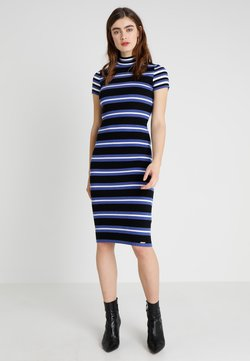 Superdry - SPORTY STRIPED DRESS - Etuikleid - chambray blue