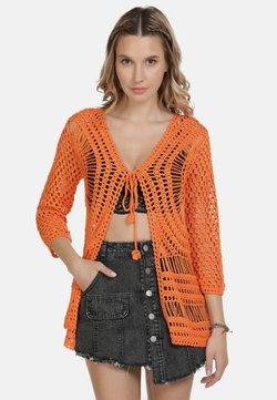 IZIA - IZIA STRICKJACKE - Strickjacke - orange