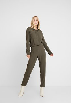 Marc O'Polo - OVERALL ATTACHED POCKETS AT BREAST ELASTIC WAIST - Combinaison - workers olive