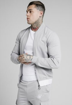 SIKSILK - DUAL STRIPE - Giubbotto Bomber - grey/white