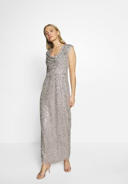 Adrianna Papell - LONG BEADED DRESS - Occasion wear - silver