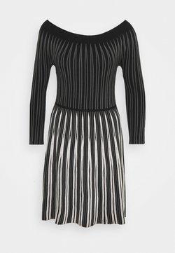 Emporio Armani - DRESS - Strickkleid - black