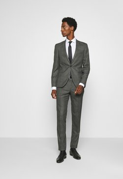 Viggo - CHECK - SLIM FIT SUIT - Anzug - charcoal