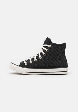 Converse - CHUCK TAYLOR ALL STAR TONAL WEAVING UNISEX - Korkeavartiset tennarit - black/white